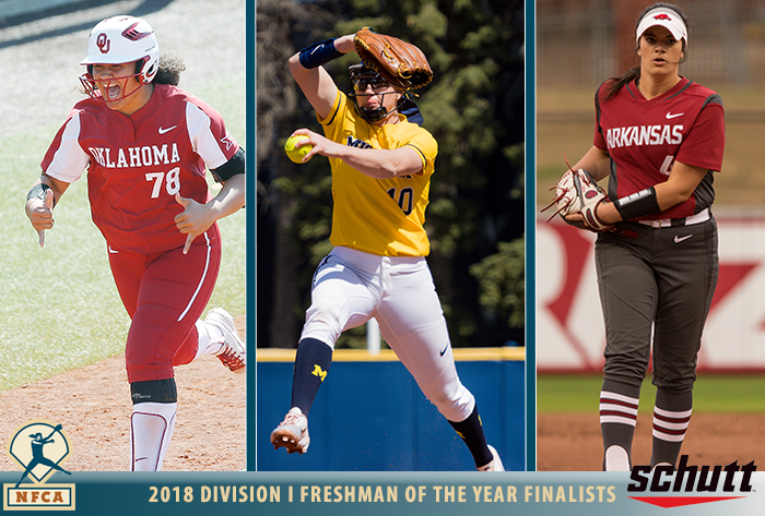 Alo, Beaubien, Haff named Schutt Sports / NFCA Division I National Freshman of the Year finalists