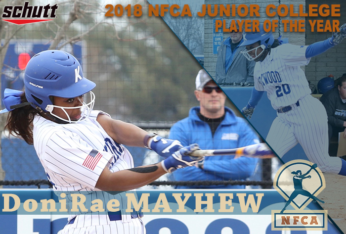 Kirkwood's Mayhew collects 2018 Schutt Sports / NFCA Junior College National Player of the Year honors