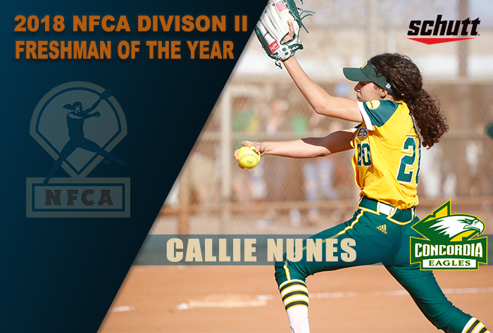 Concordia Irvine's Nunes named Schutt Sports/NFCA DII National Freshman of the Year