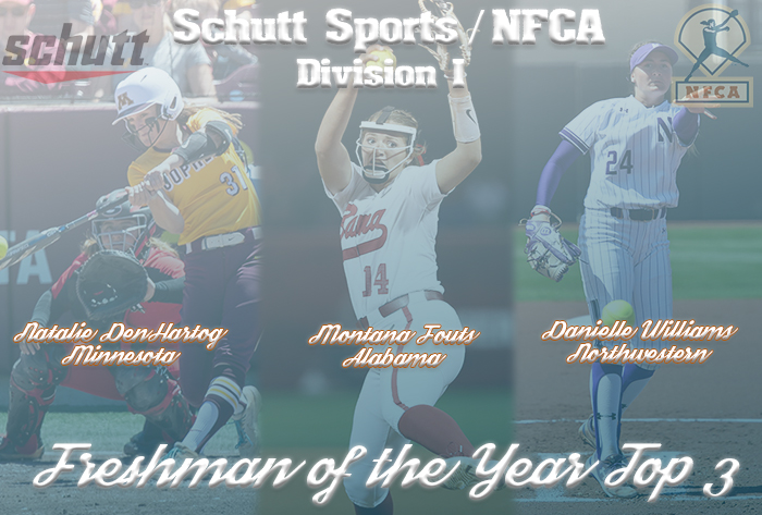 DenHartog, Fouts, Williams finalists for 2019 Schutt Sports / NFCA Division I National Freshman of the Year