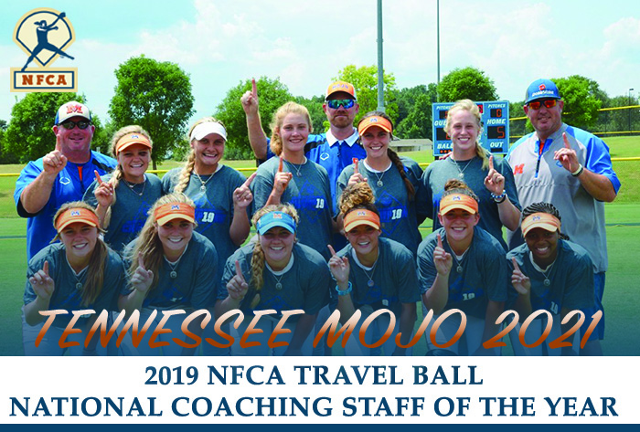 NFCA travel ball national coaching staff of the year, NFCA, travel ball, Tennessee Mojo 2021, Tennessee Mojo, NFCA travel ball, Brooks Cherry