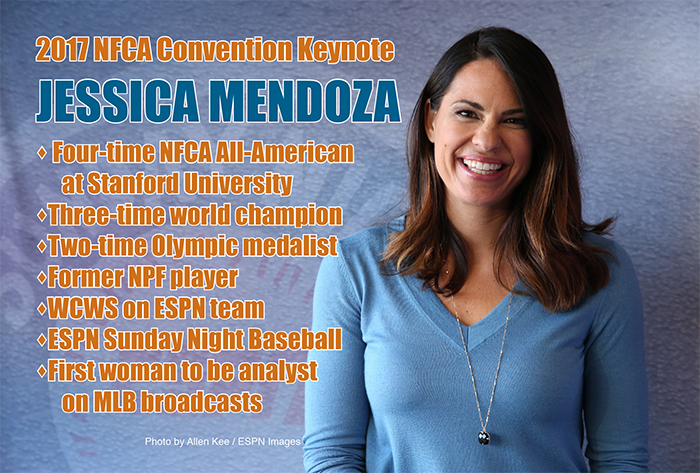 NFCA announces Jessica Mendoza as 2017 Convention keynote speaker