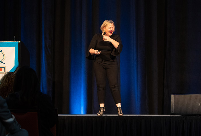 Holly Rowe knocks it out of the park to kick of 2018 NFCA National Convention