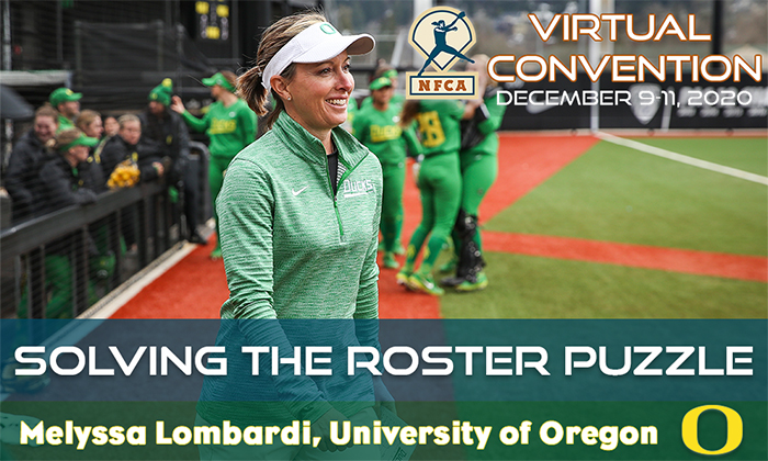 nfca virtual convention, Melyssa Lombardi, Oregon softball, roster management, roster puzzles,