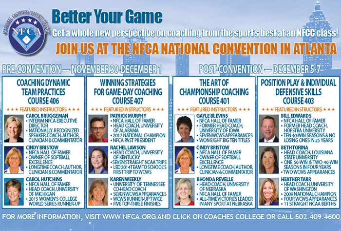 NFCC Courses Offered Pre and Post-Convention in Atlanta