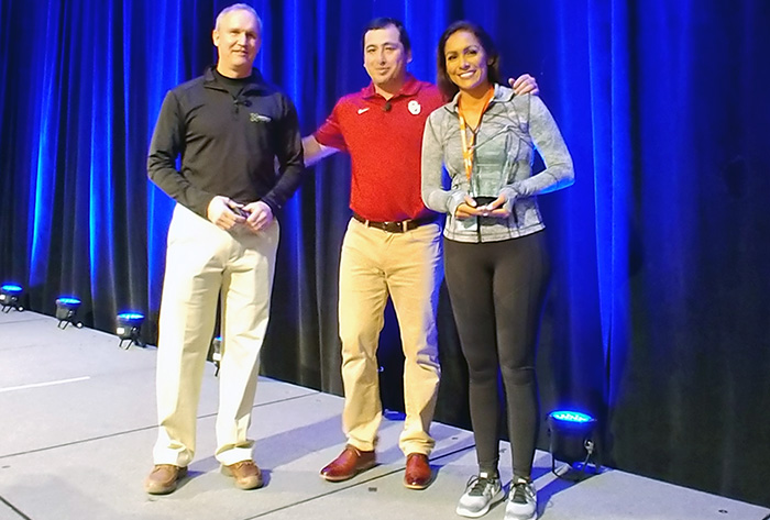 Kirk, Fisher and Rojas earn new Diamond Kinetics/NFCA Technology Scholarship