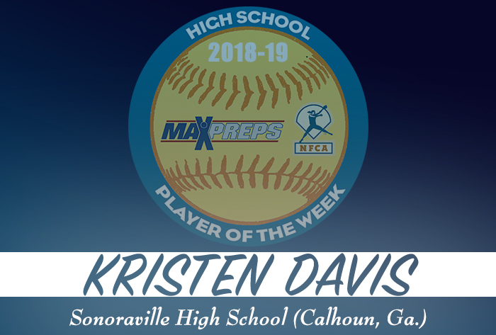 Sonoraville's Davis named 2018-19 MaxPreps/NFCA National High School Player of Week