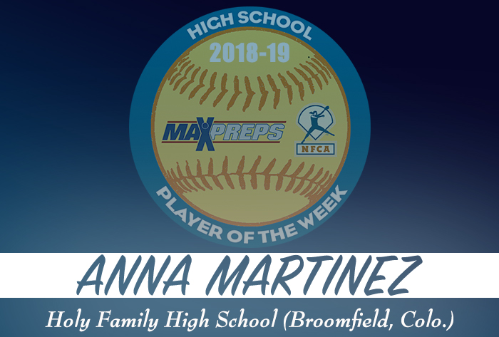 Holy Family's Martinez named 2018-19 MaxPreps/NFCA National High School Player of Week