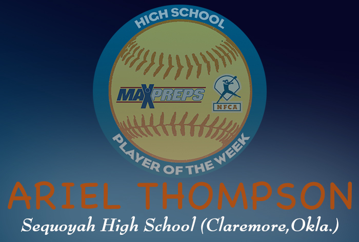 Sequoyah's (Okla.) Thompson named first 2018-19 MaxPreps/NFCA National High School Player of Week