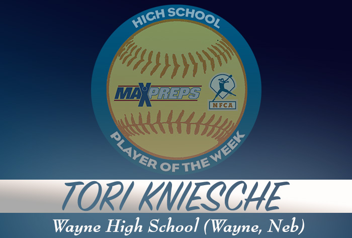 Wayne's (Neb.) Tori Kniesche named MaxPreps/NFCA 2018-19 National High School Player of the Week