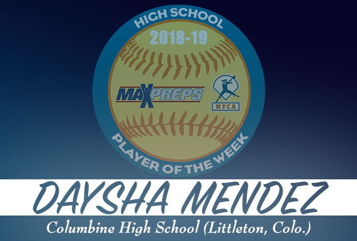 Columbine's Mendez named 2018-19 MaxPreps/NFCA National High School Player of Week