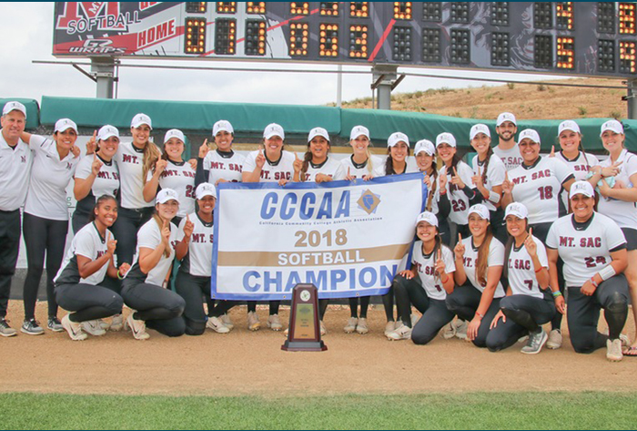 Mt. SAC outlasts Palomar for 2018 CCCAA State Softball Title
