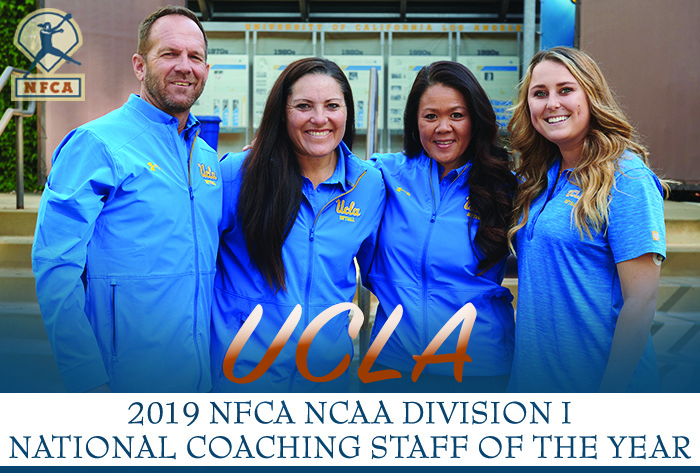 National champs UCLA named 2019 NFCA Division I National Coaching Staff of the Year