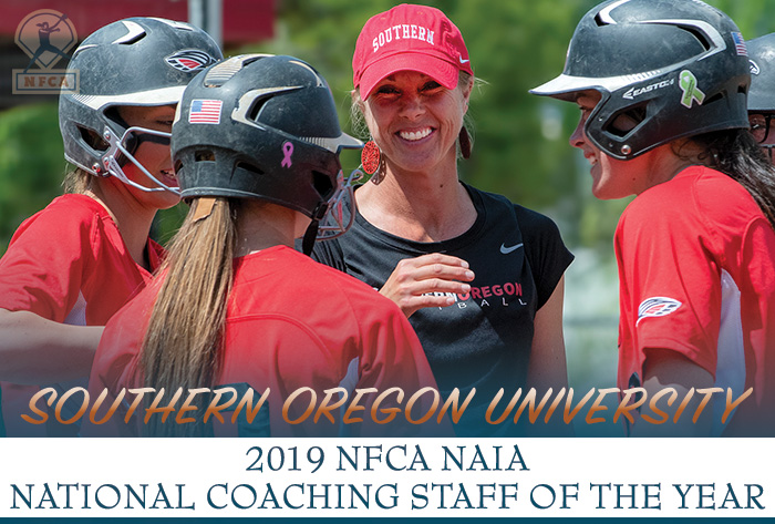 First-time champs Southern Oregon named 2019 NFCA NAIA National Coaching Staff of the Year