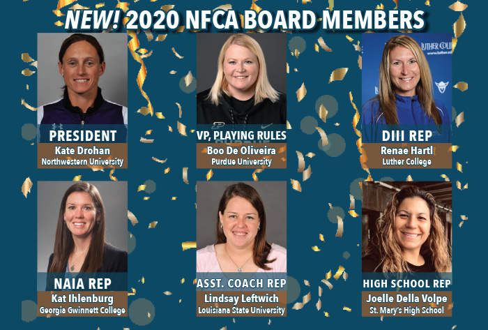 Northwestern's Drohan tabbed NFCA President; 2020 Board of Directors announced