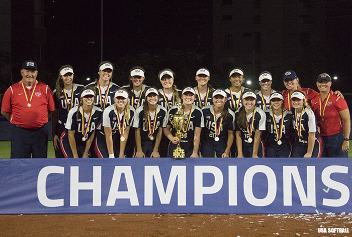 U-17 Women's Pan American Championship, United States U-17, Gold Medalist, Gold Medal, United States Softball, USA Softball U-17 Women's National Team