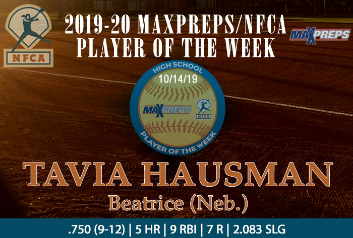Beatrice's Hausman named 2019-20 MaxPreps/NFCA National High School Player of Week (Fall)