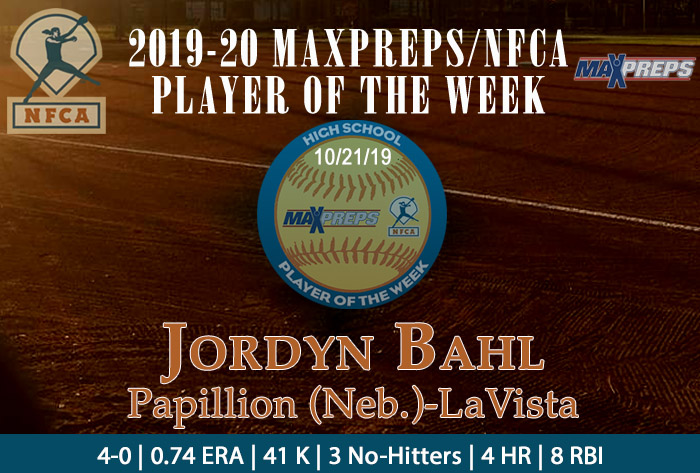 Papillion-LaVista's Bahl captures 2019-20 MaxPreps/NFCA National High School Player of Week (Fall) honors