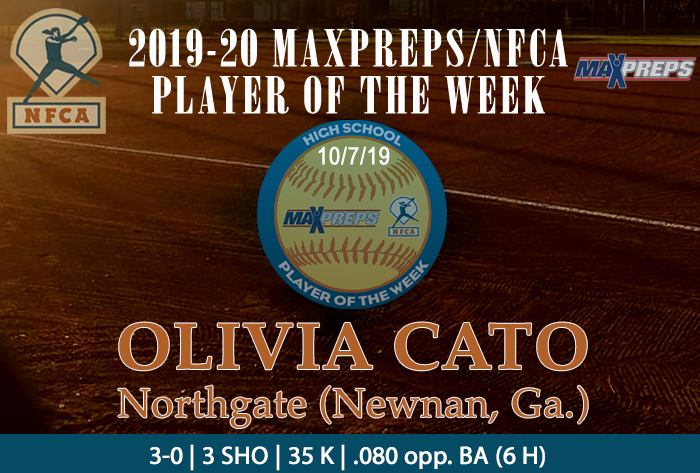 Northgate's Cato named 2019-20 MaxPreps/NFCA National High School Player of Week (Fall)