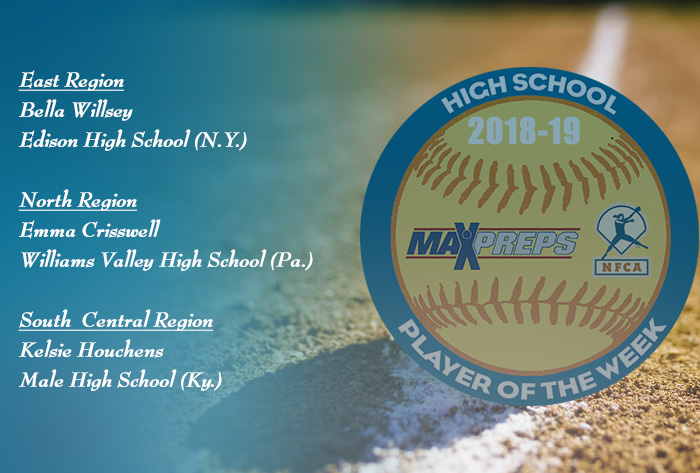 Willsey, Crisswell and Houchens named 2018-19 MaxPreps / NFCA National High School Players of Week
