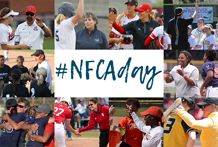 NFCA, Day, coaches, softball, fastpitch, University, College, celebration