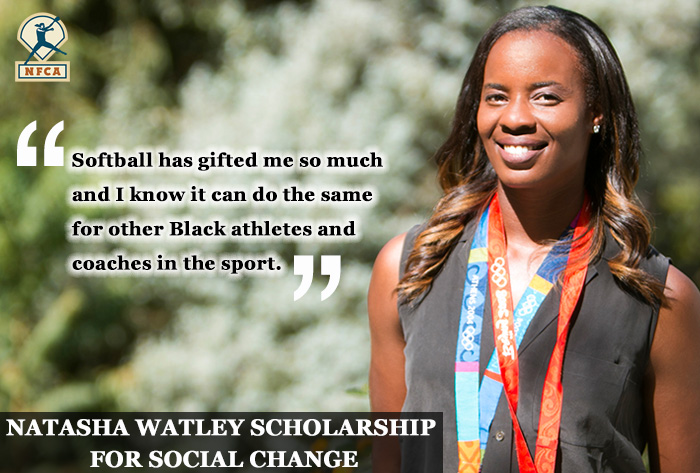 Natasha watley, nfca, Natasha Watley Scholarship for Social Change , Natasha Watley Scholarship, social change, nfca scholarship, sue enquist, black athletes, black softball, black coaches, black softball coaches