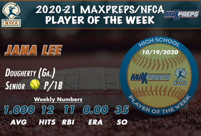 Dougherty's Lee tabbed 2020-21 MaxPreps/NFCA High School Player of the Week
