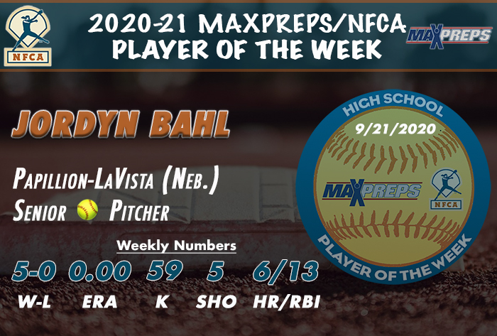 Papillion-LaVista's Bahl named 2020-21 MaxPreps/NFCA High School Player of Week