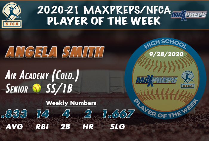 Air Academy's (Colo.) Smith named 2020-21 MaxPreps/NFCA High School Player of Week