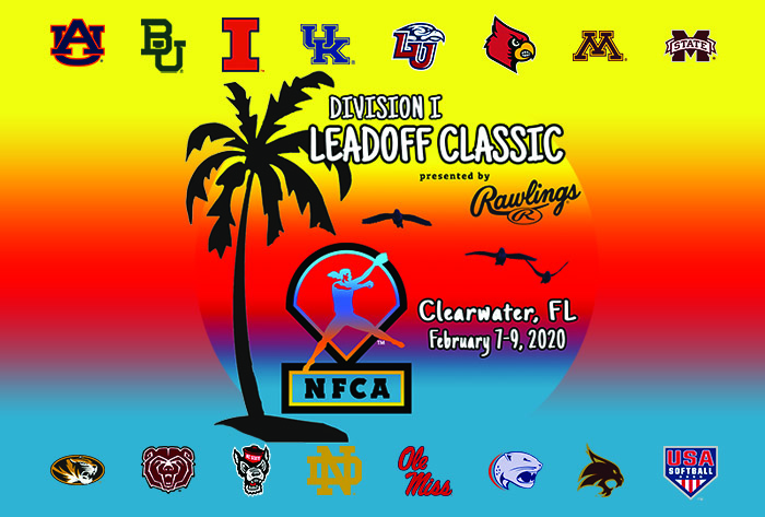 NFCA, Leadoff Classic, Division I Softball, Rawlings, USA Softball, US National Team, US Women's National Team, USWNT, Clearwater, City of Clearwater, Eddie C. Moore, Auburn, Minnesota, Kentucky, Ole Miss, Mississippi State, Missouri, Louisville, Notre Dame, Missouri State, Texas State, Baylor, North Carolina State, South Alabama