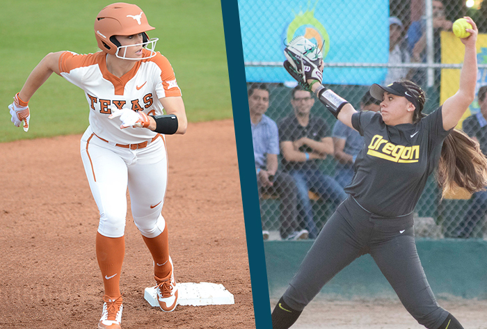 Texas' Elish, Oregon's Yanez earn first Louisville Slugger/Wilson NFCA DI weekly honors of 2020