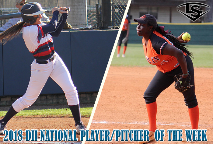 Columbus State's Waugh, Claflin's Norman earn 2018 Louisville Slugger/NFCA Division II weekly honors