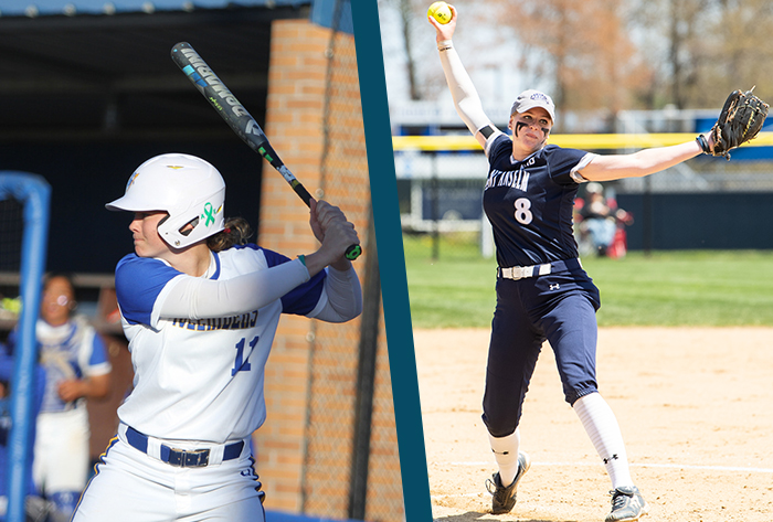 Hill, Perry garner Louisville Slugger/Wilson NFCA DII weekly honors