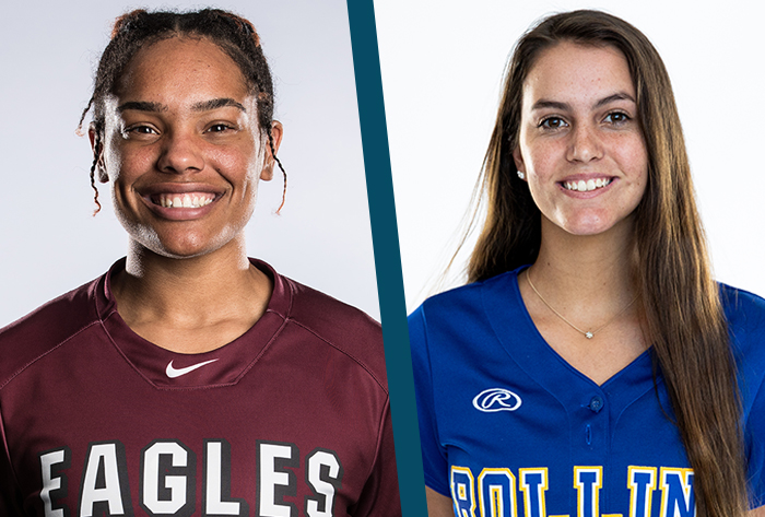 Louisville Slugger/NFCA Division II Player of the Week, Wilson/NFCA Division II Pitcher of the Week,  Jaiden Johnson, Ali Shenefield, Rollins, Oklahoma Christian