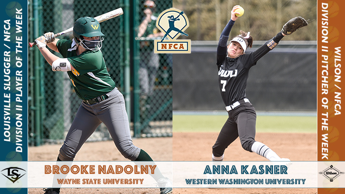Nadolny, Kasner earn final Wilson & Louisville Slugger / NFCA DII weekly honors of 2021