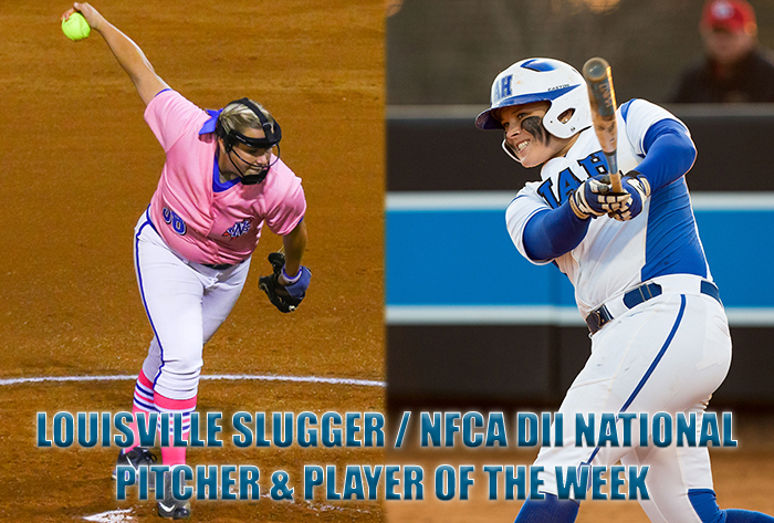 Bannister and Poole Garner final Louisville Slugger/NFCA Division II weekly honors