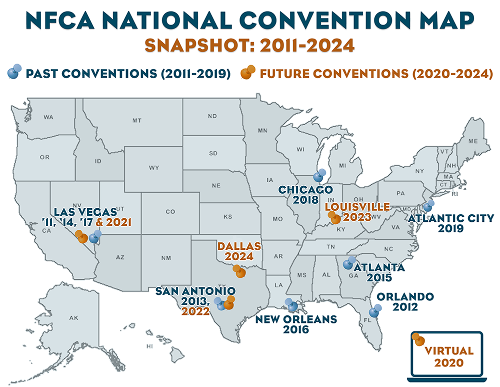 NFCA Convention Map 2011 2024
