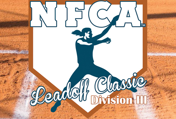 NFCA, college, university, NCAA, Division III, III, D3, softball, fastpitch, Leadoff, Classic, 2020
