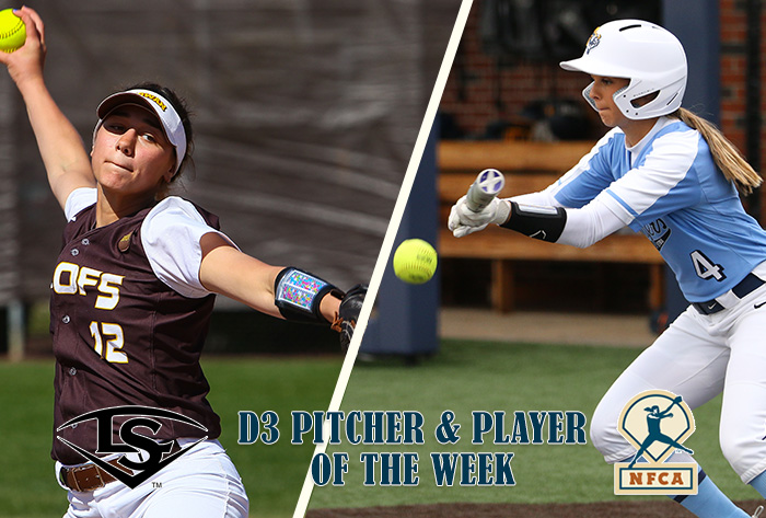 DeDomenico, Arst claim Louisville Slugger/NFCA Division III National Pitcher, Player of Week honors