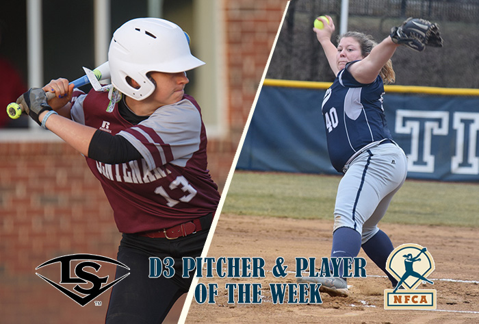 Rohrer, Dunn claim Louisville Slugger/NFCA Division III National Pitcher, Player of Week honors