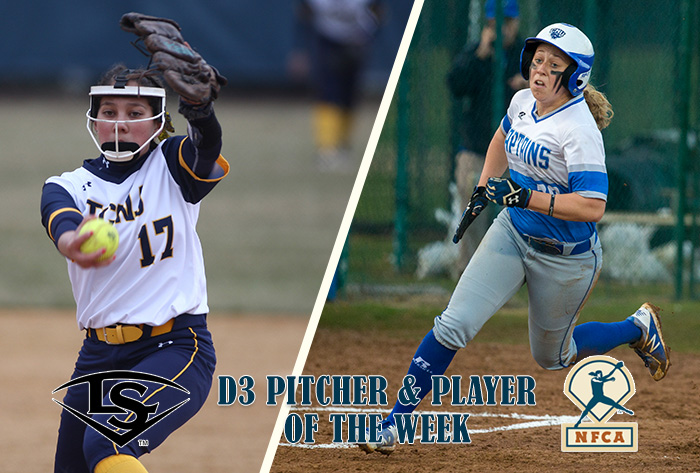 Namit, Payne claim Louisville Slugger/NFCA Division III National Pitcher, Player of Week honors