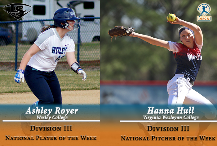 Hull, Royer earn Louisville Slugger/NFCA Division III National Pitcher, Player of Week honors