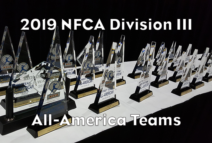 Forty-five earn 2019 NFCA Division III All-America recognition
