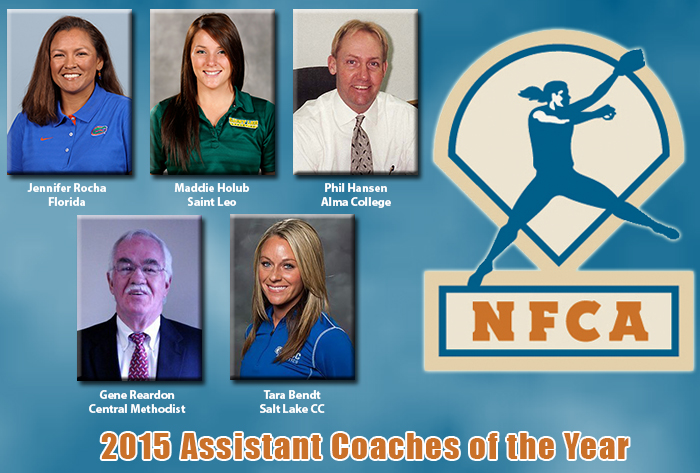 2015 NFCA Assistant Coach of the Year Recipients Announced