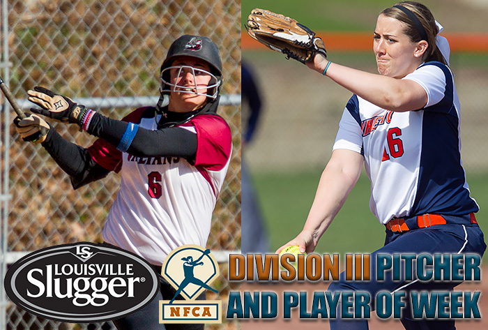 Hartenstein, Thornton earn Louisville Slugger/NFCA Division III National Player, Pitcher of Week honors