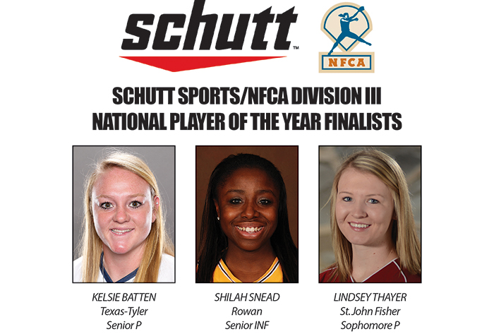 NFCA reveals three finalists for inaugural Schutt Sports/NFCA Division III Player of Year