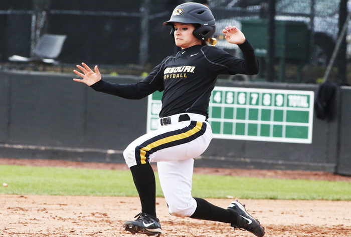 Missouri softball's pinch runner keeps Bulgaria, adoption in her heart