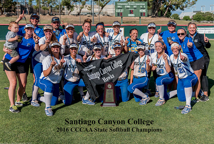 Santiago Canyon College named 2016 NFCA CalJC Coaching Staff of the Year