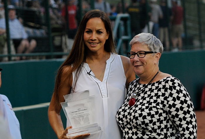 Cat Osterman enshrined into the Little League® Hall of Excellence