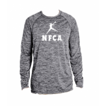 NFCA Holloway Black Long Sleeve Crew Neck Shirt (Dry-Excel)